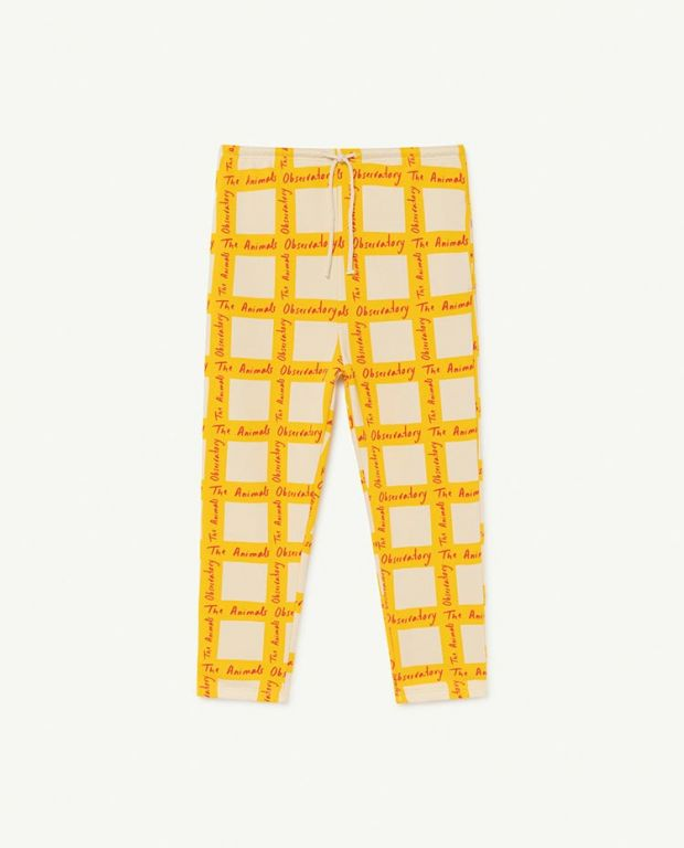 White Squares Dromedary Trousers