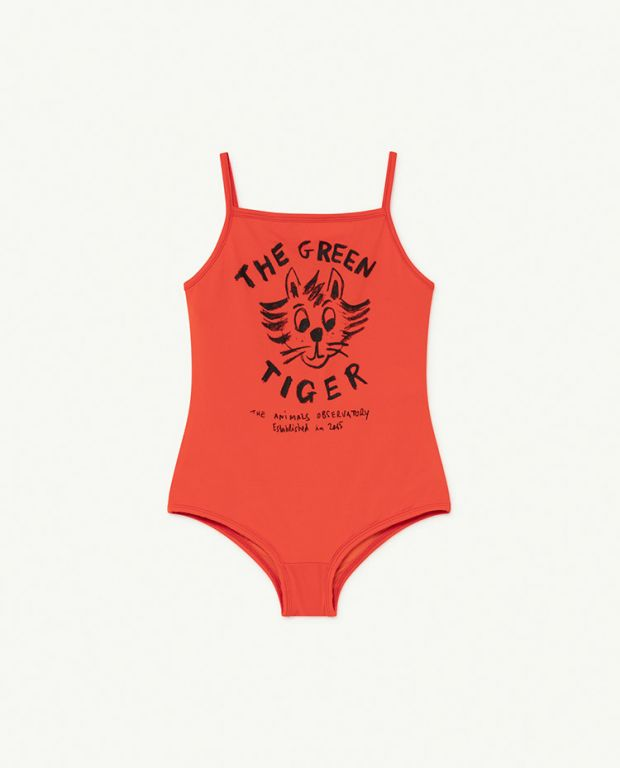 Red Tiger Octopus Swimsuit