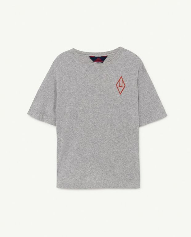 Grey Logo Rooster Oversize T-shirt