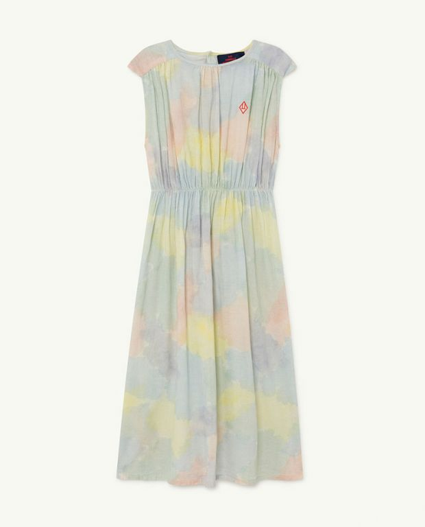 Multicolor Watercolor Marten Dress