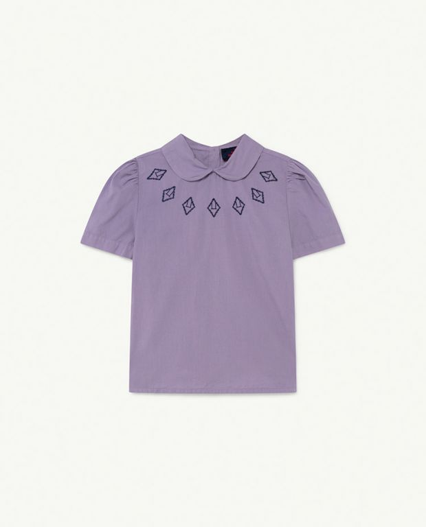 Purple Logos Canary Blouse