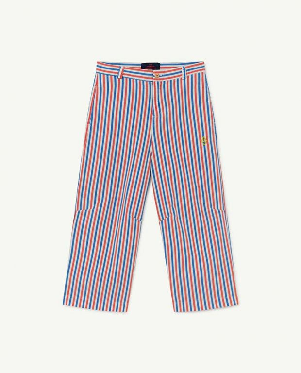 White Stripes Camel Trousers