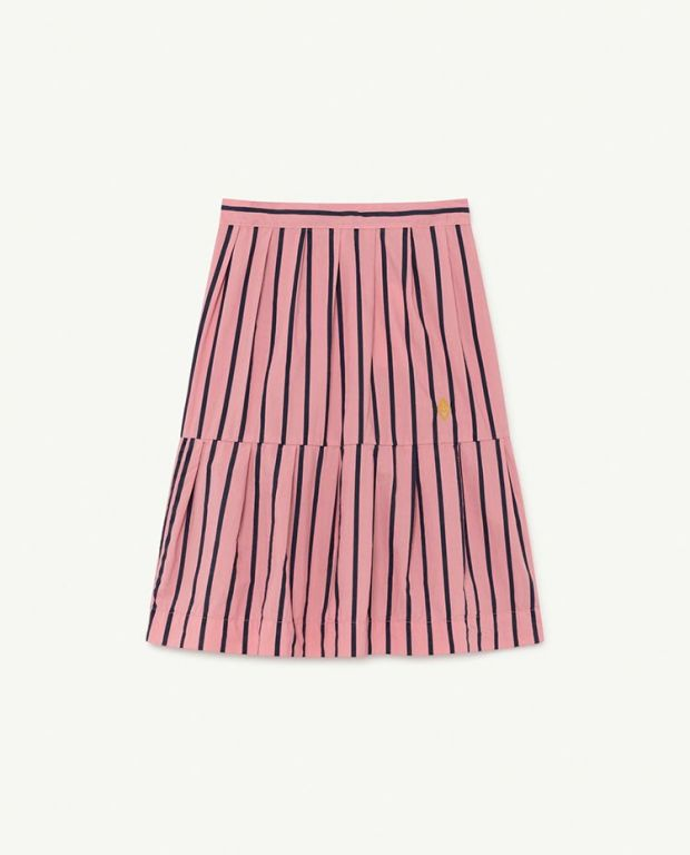 Pink Stripes Turkey Skirt