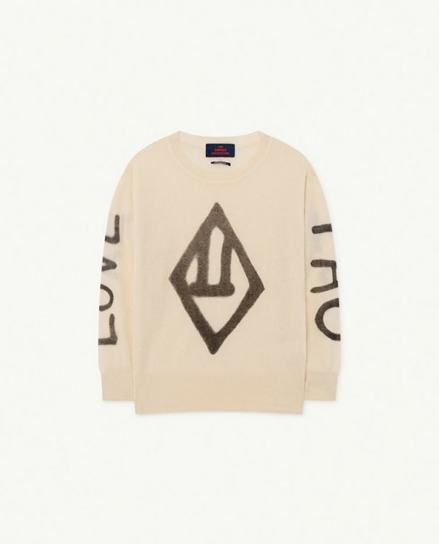 White Logo Bull Sweater