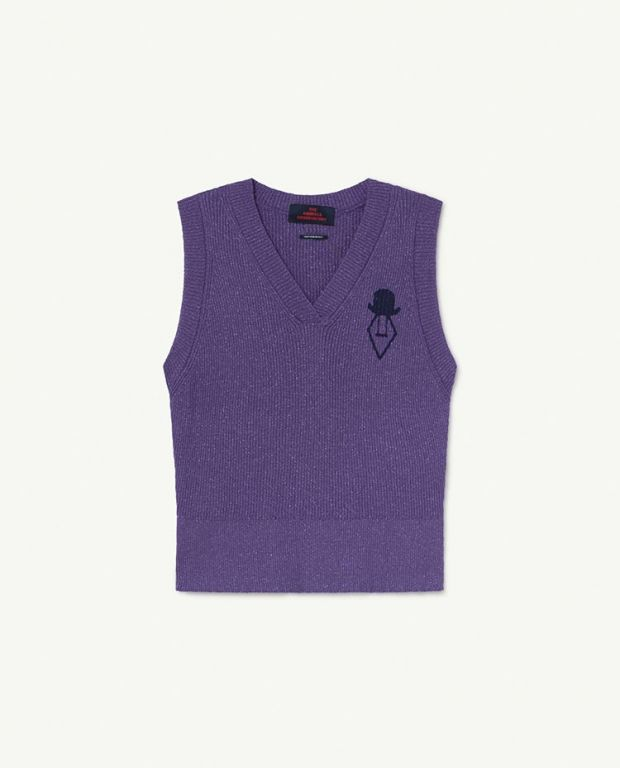 Purple Logo Bat Vest