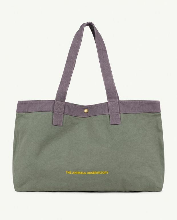 Military Green The Animals Big Canvas Bag