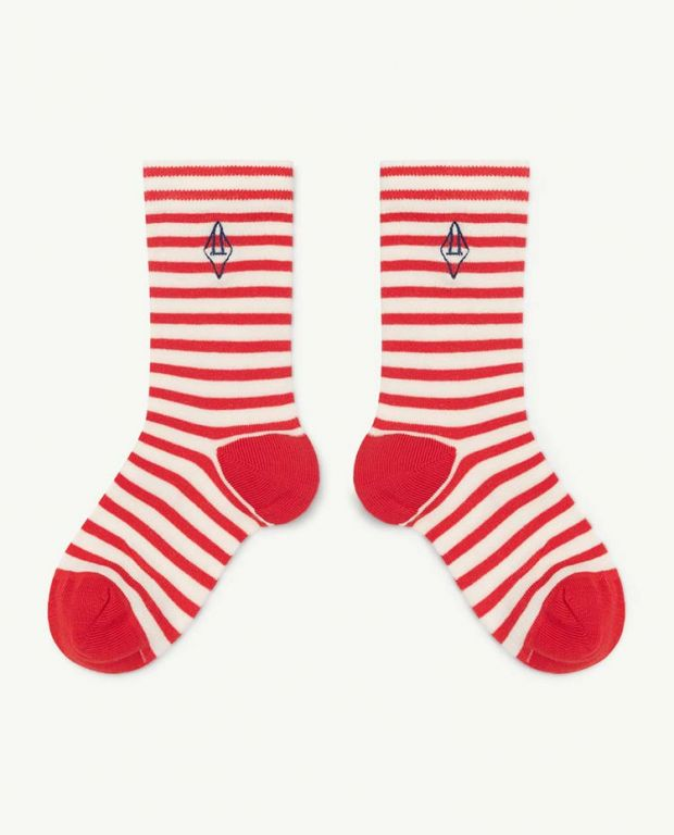 Red Logo Snail Socks