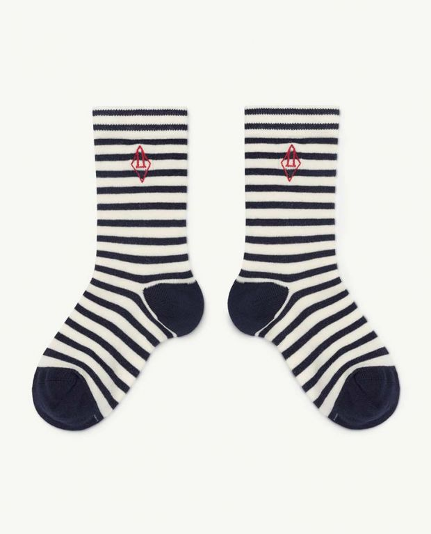Navy Logo Snail Socks