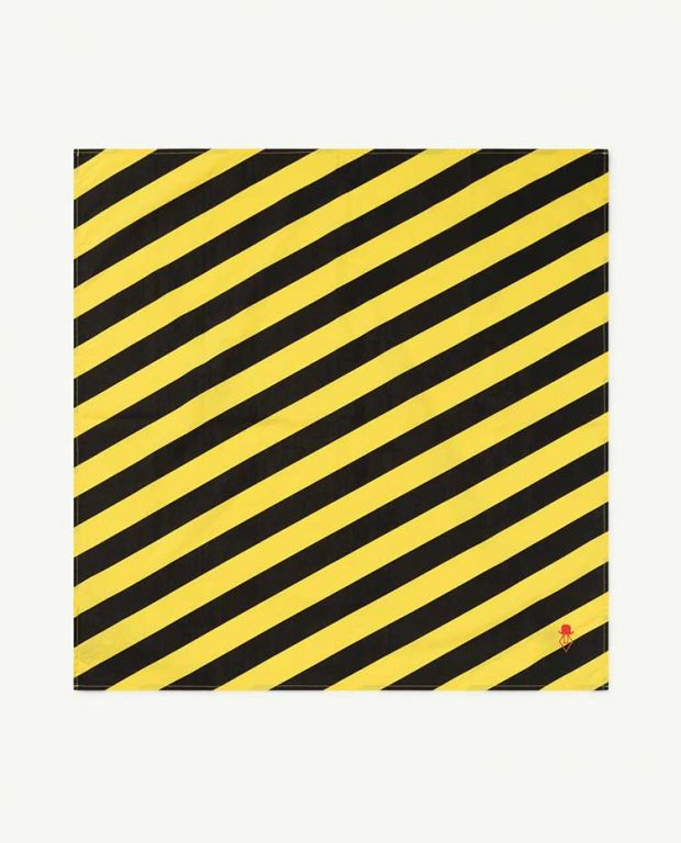 Yellow Stripes Ray Handkerchief