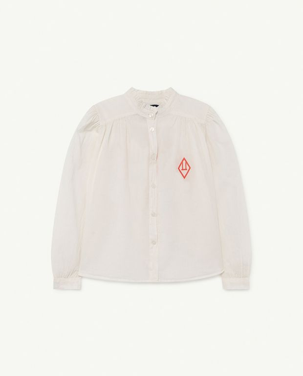 White Logo Cricket Blouse