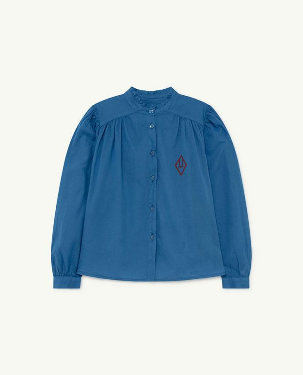 Blue Logo Cricket Blouse