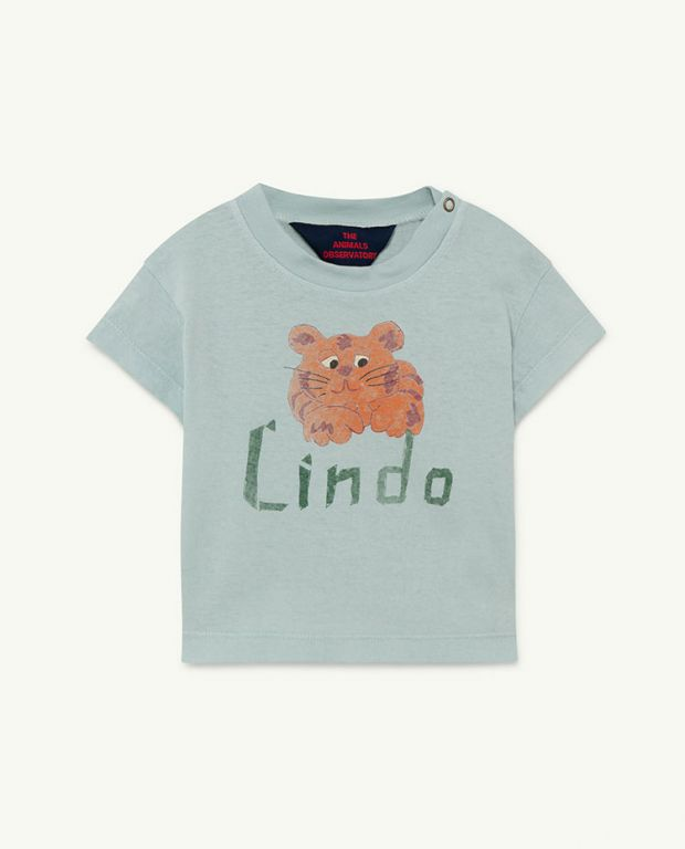 Blue Lindo Rooster Baby T-shirt