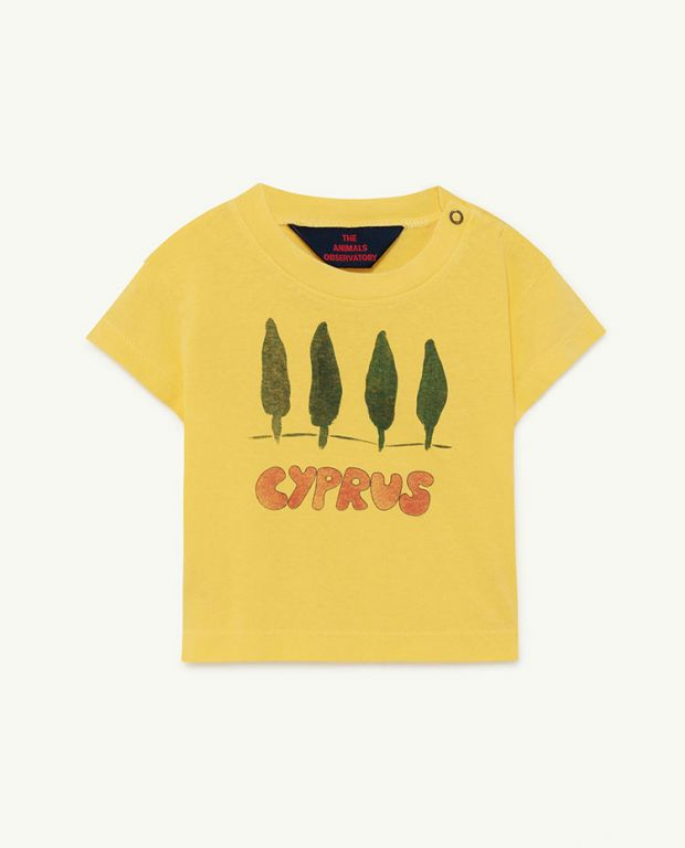 Soft Yellow Cyprus Rooster Baby T-shirt