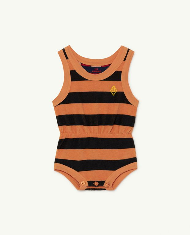 Orange Stripes Squirrel Baby Body