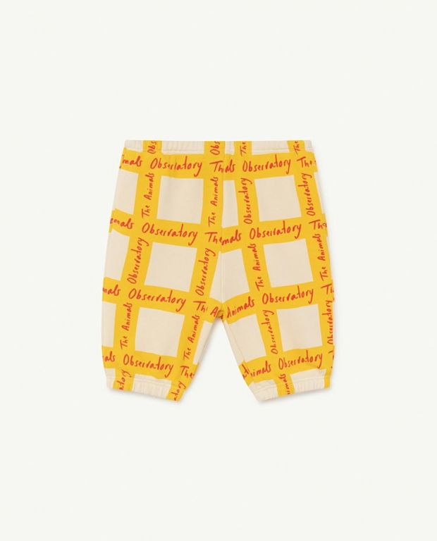 White Squares Dromedary Baby Trousers