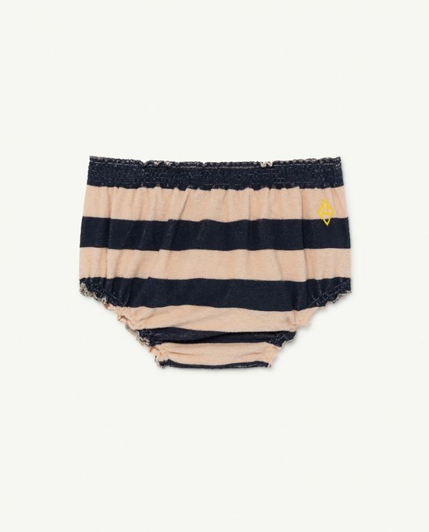 Peachy Stripes Toads Baby Culotte