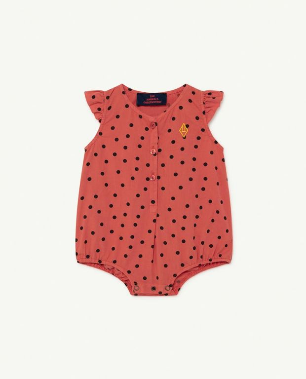 Red Dots Butterfly Baby Body