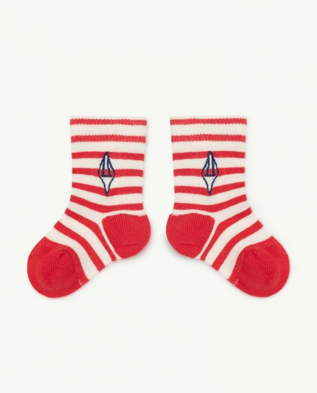 Red Logo Snail Baby Socks