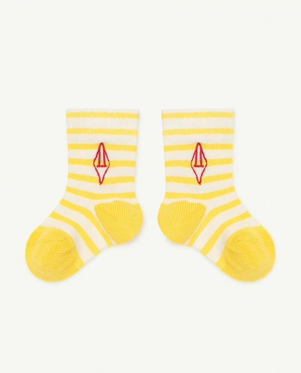 Yellow Logo Snail Baby Socks