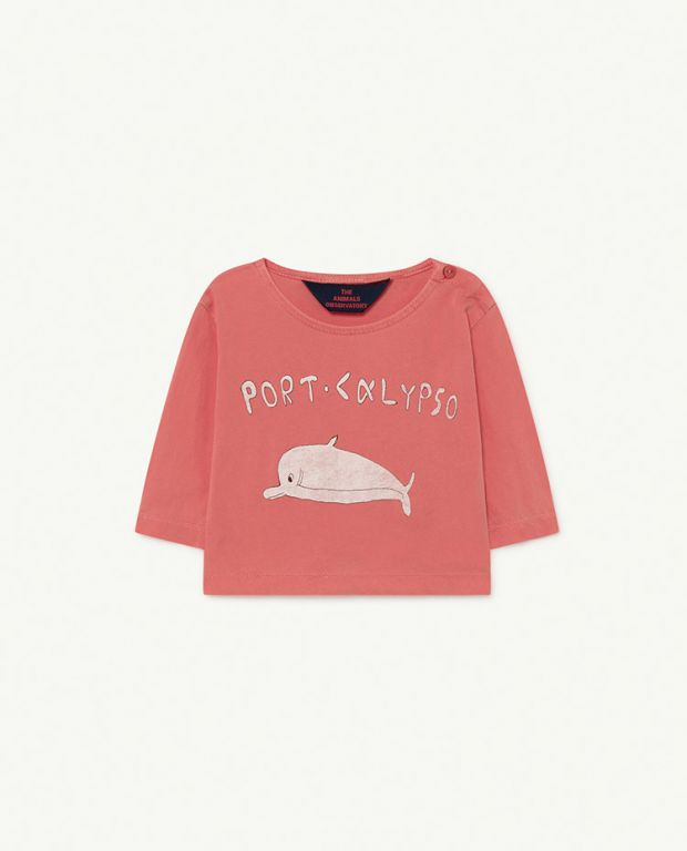 Red Dolphin Anteater Baby T-shirt