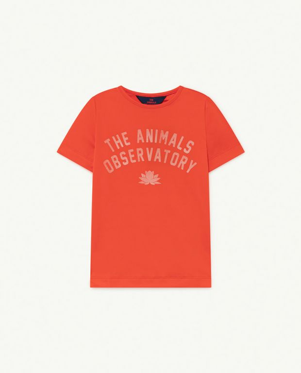 Red The Animals Hippo Swim T-shirt