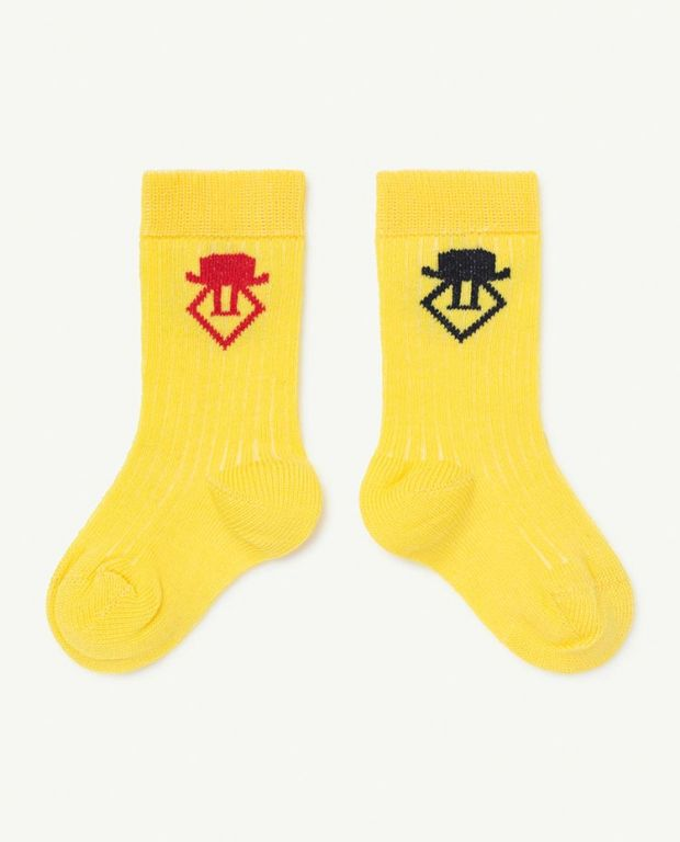 Soft Yellow Worm Baby Socks
