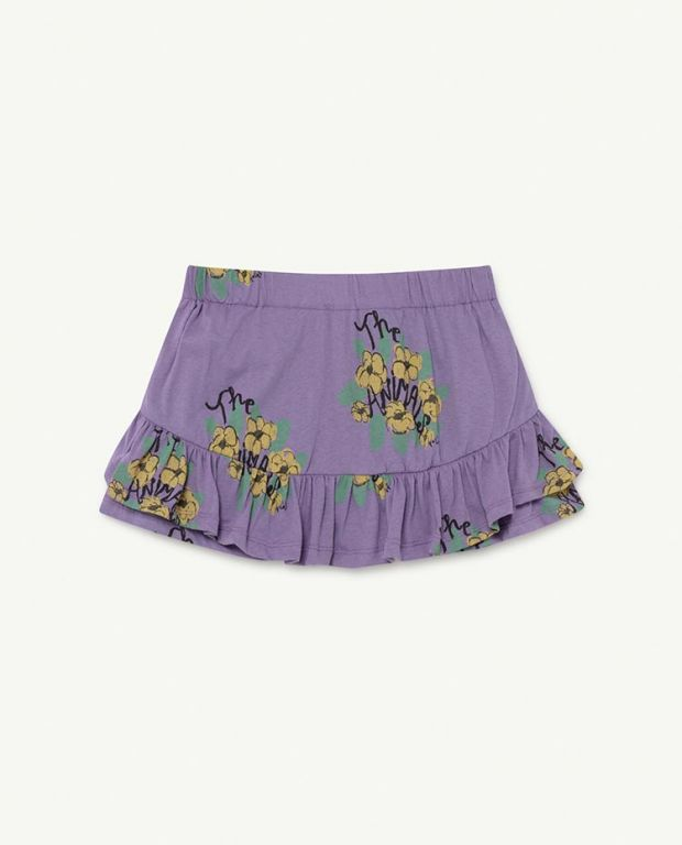 Purple Flowers Kiwi Skirt