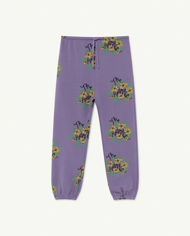 Purple Flowers Dromedary Trousers