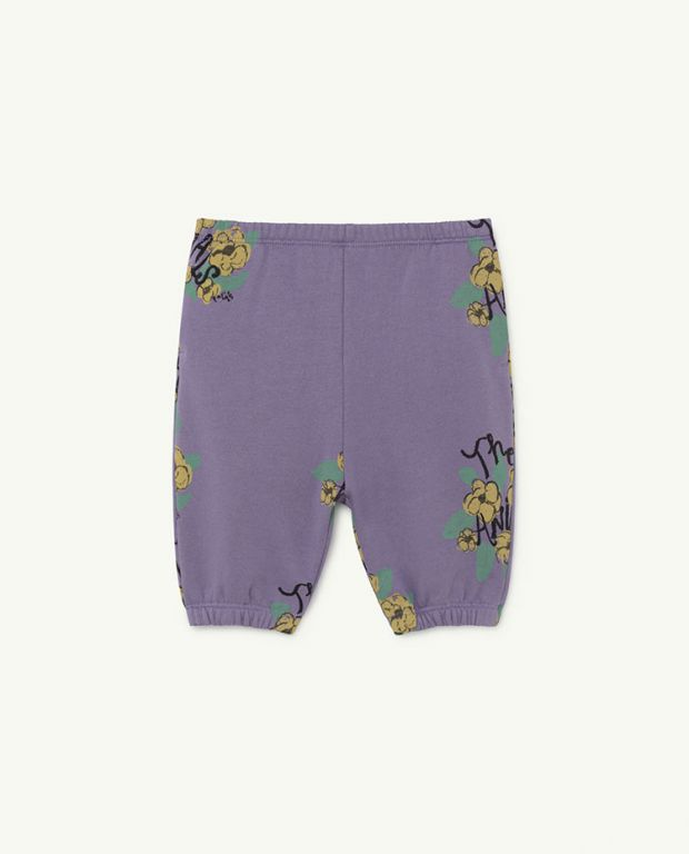 Purple Flowers Dromedary Baby Trousers