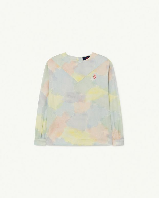 Multicolor Watercolor Marmot Blouse