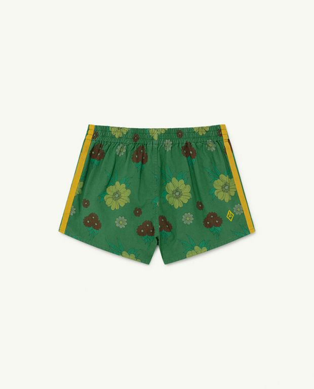 Green Flowers Spider Trousers