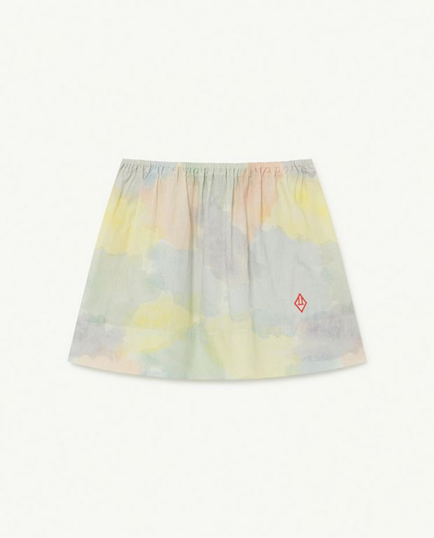 Multicolor Watercolor Impala Skirt