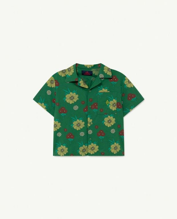 Green Flowers Kangaroo Blouse