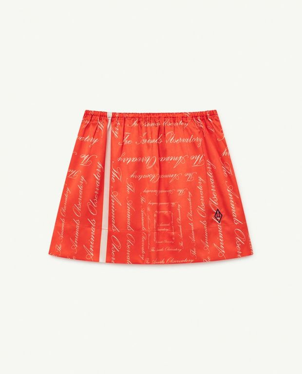 Red The Animals Silky Impala Skirt
