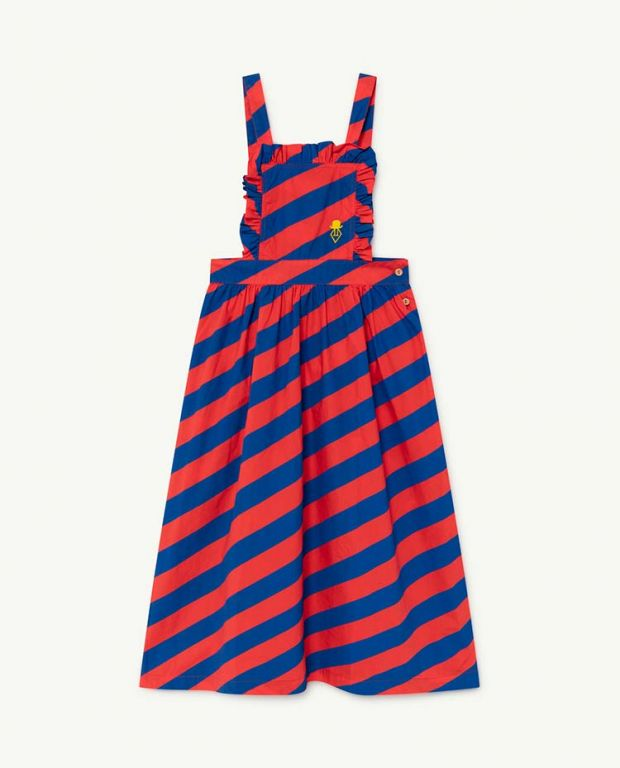 Red Stripes Cow Dress