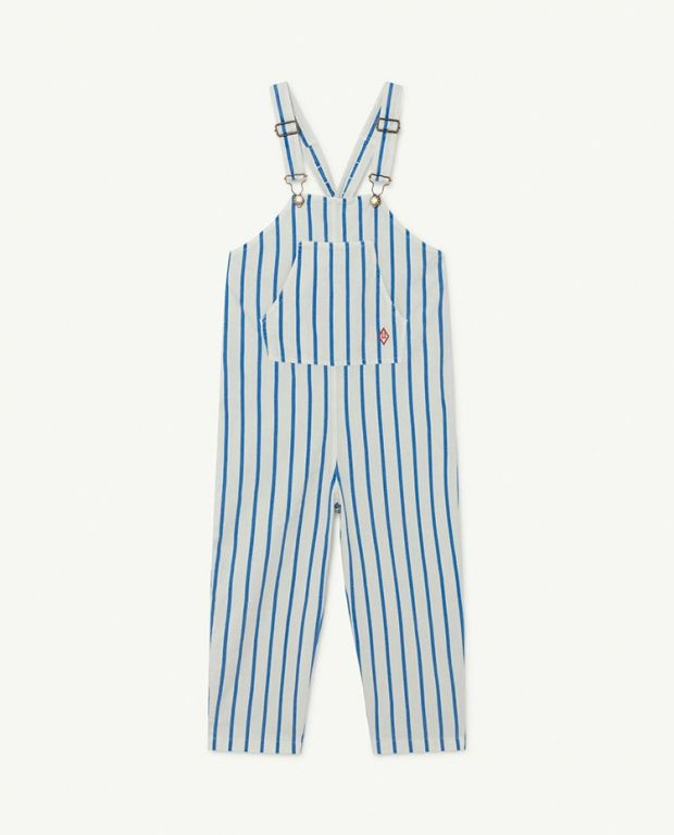 White and Blue Stripes Mammoth Jumpsuit