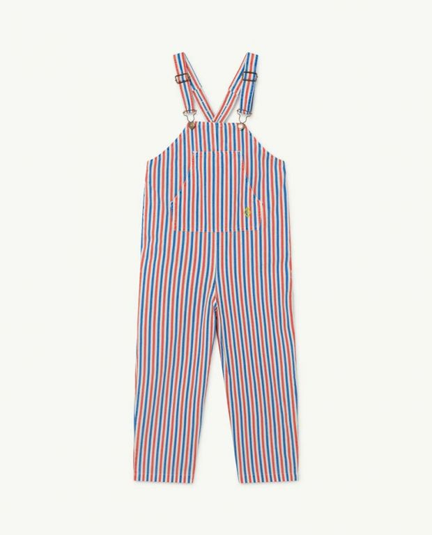 White and Red Stripes Mammoth Jumpsuit