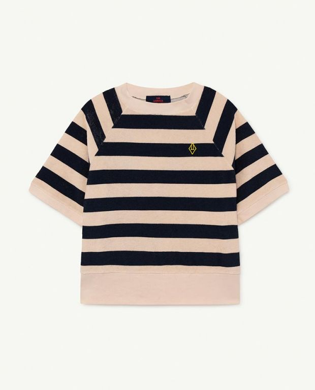 Peachy Stripes Squab T-shirt