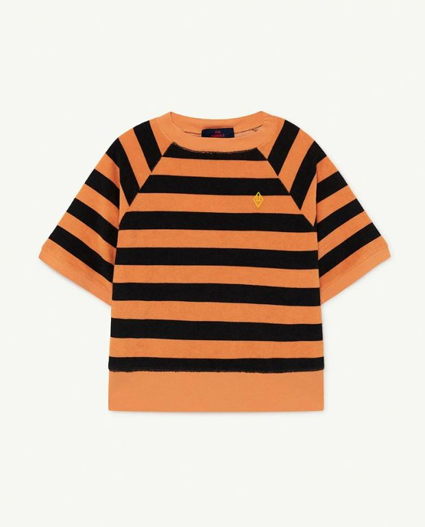 Orange Stripes Squab T-shirt