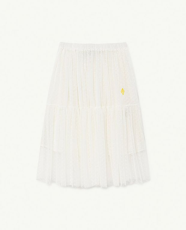 Raw White Blowfish Skirt