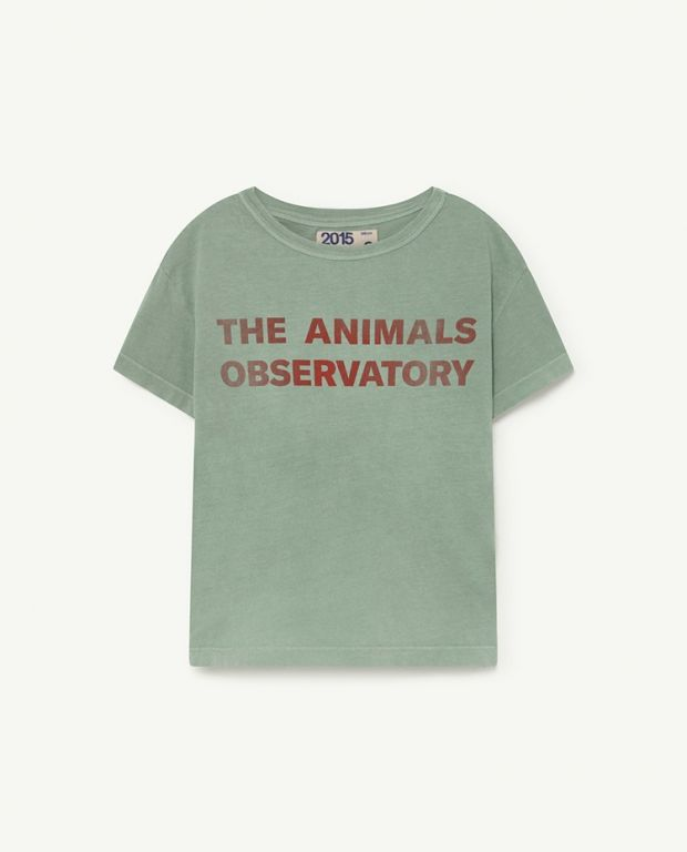 Soft Green Red The Animals Observatory Rooster T-Shirt