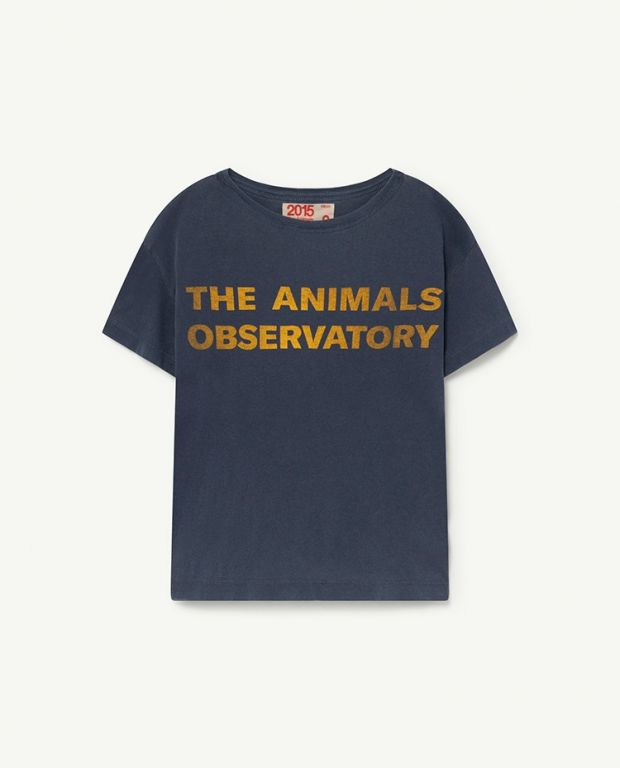 Navy Yellow The Animals Observatory Rooster T-Shirt