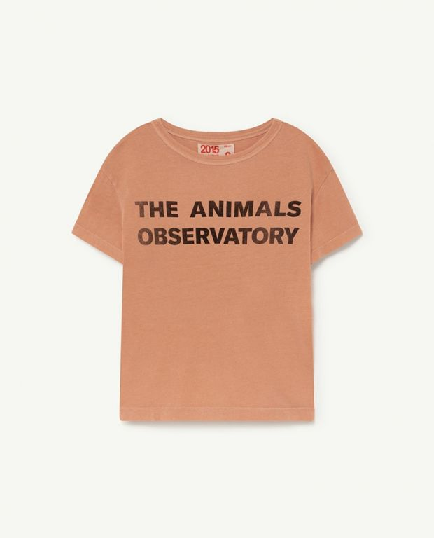 Terracotta Black The Animals Observatory Rooster T-Shirt