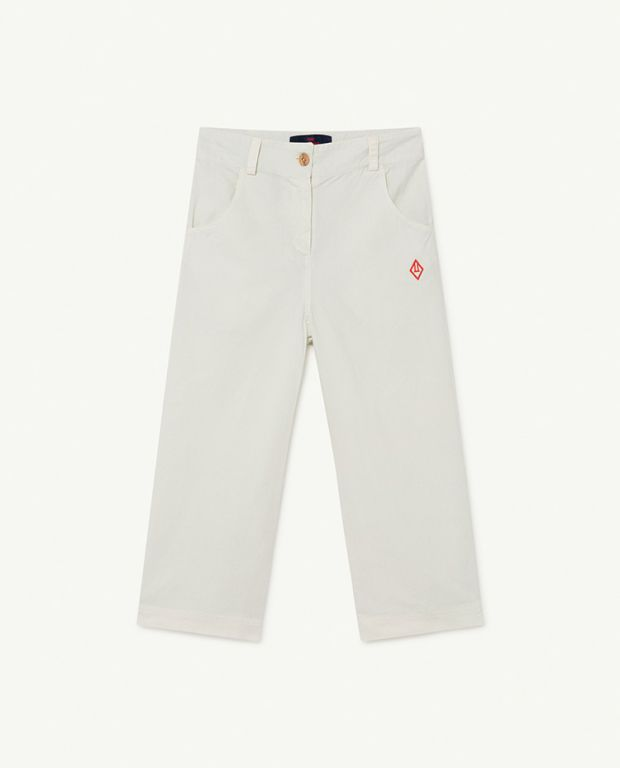 White Logo Porcupine Trousers